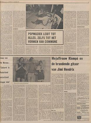 jimi hendrix newspapers 1970  / de volkskrant march 31, 1970