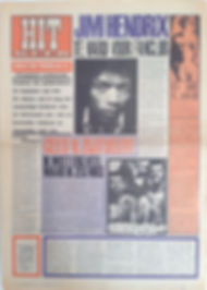jimi hendrix collector newspaper/hit week 23/3/1967 jimi hendrix