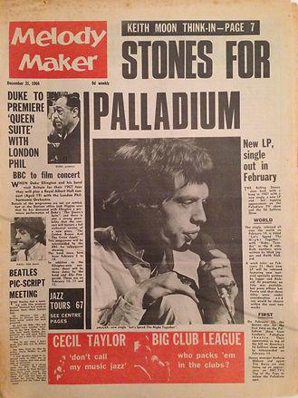 jimi hendrix newspaper/melody maker 31/12/66
