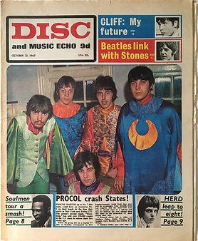 jimi hendrix collector/newspaper/disc music echo 21/10/67