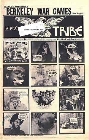 jimi hendri newspaper 199/berkeley tribe october 31,  1969