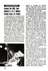 jimi hendrix magazines 1970 death/  jet : october 15,1970