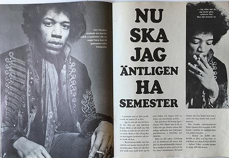 jimi hendrix magazine 1968/ jimi hendrix sweden 1968