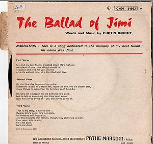 jimi hendrix vinyls singles collector/the ballad of jimi 1970