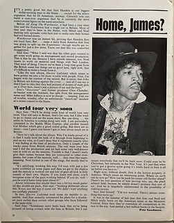 jimi hendrix magazine 1968/beat instrumental december 1968/home james ?