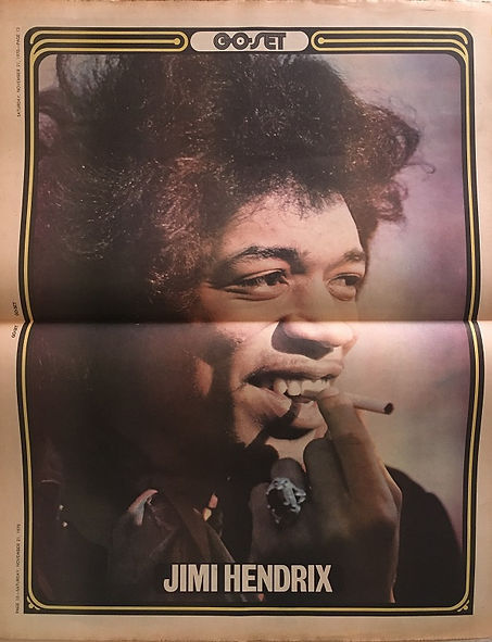 jimi hendrix newspapers: go set Nov. 21, 1970  poster