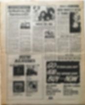 jimi hendix newspaper/new musical express 20/4/1968 jimi hendrix has SRO experience in US
