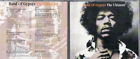 jimi hendrix bootlegs cds 1969/  band of gypsys the ultimate