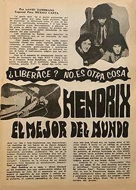 jimi hendrix magazines 1969/mexico canta june 1969 N°424