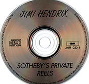 jimi hendrix collector cd bootlegs/jimi hendrix sotheby's private reels/1994
