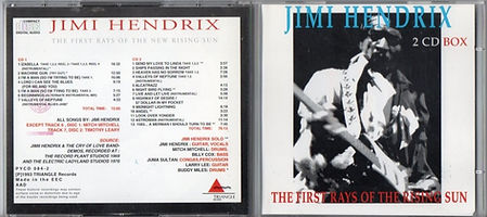 jimi hendrix bootlegs cd 69 / the first rays of the new rising sun / 1993