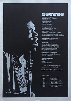 jimi hendrix magazines 1970 death/ sounds  october 1970