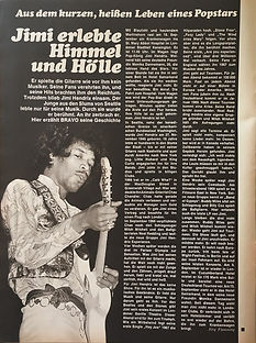 jimi hendrix magazines 1970 death/ bravo : october 19, 1970