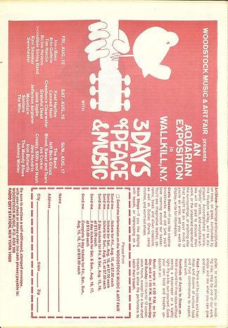 jimi hendrx newspaper 1969/chicago seed vol4 numero 3/  woodstock ticket