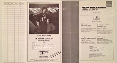 hendrix collector/catalogue polydor are you experienced may 1967