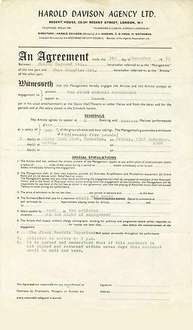 jimi hendrix collector engagement 1966/ memorabilia