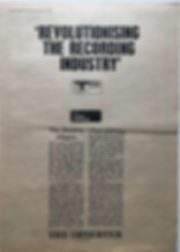 jimi hendrix newspaper 1968/record mirror 23/11/68 revolutionising the recording industry
