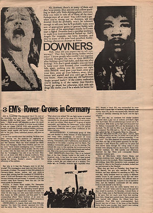 jimi hendrix newspapers 1970 / up against the bulkhead n°1 vol 5 :  december 1970