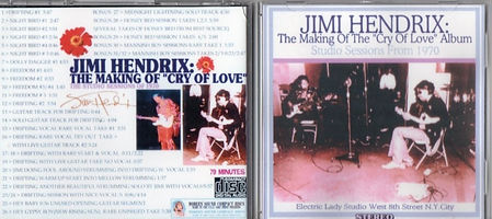 jimi hendrix bootlegs cd / the making of the cry of love album