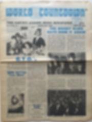 jimi hndrix newspper 1969/world countdown may 13 1969