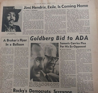 jimi hendrix newspaper 1970 / new york post : september 19, 1970 / jimi hendrix in memoriam