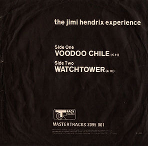 jimi hendrix collector single vinyls/voodoo chile/watchtower israel 1970