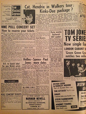 jimi hendrix newspapers collector 1967 /  new musical express 1967