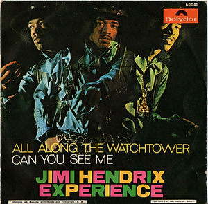 jimi hendrix collector singles 45t vinyls/ all along the watchtower can you see me spanish 1968