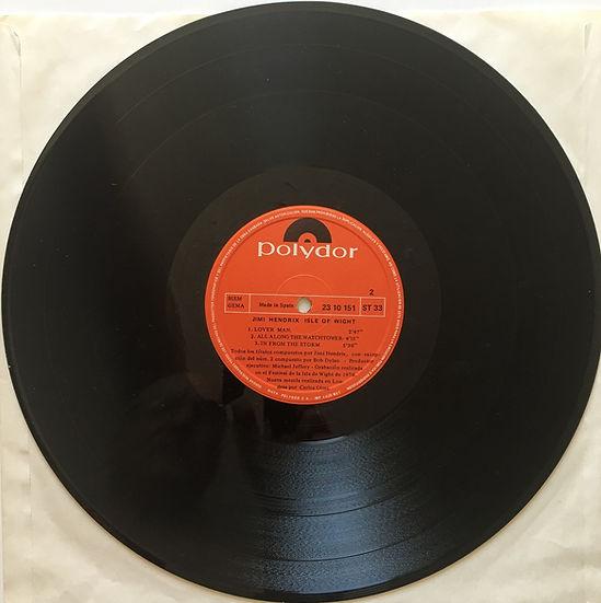 jimi hendrix album vinyl lps/isle of wight 1971 freedom was censored spanish