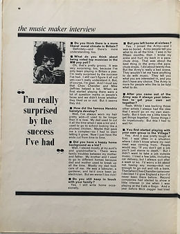 jimi hendrix magazine collector/music maker february 1968 interview part 5