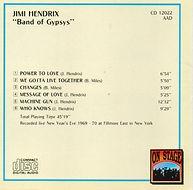 jimi hendrix bootlegs cds 1970 / band of gypsys