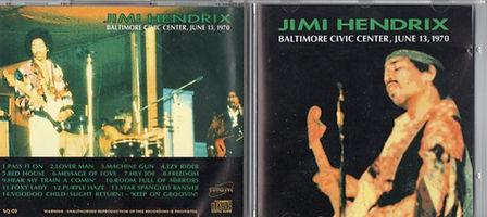 jimi hendrix bootlegs cd / baltimore civic center  june 13, 1970