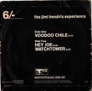 jimi hendrix collector EP/maxi singles/voodoo chile/het joe/watchtower/england 1970 track records