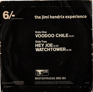 jimi hendrix collector EP/maxi singles/voodoo chile/het joe/watchtower/england 1970 track records