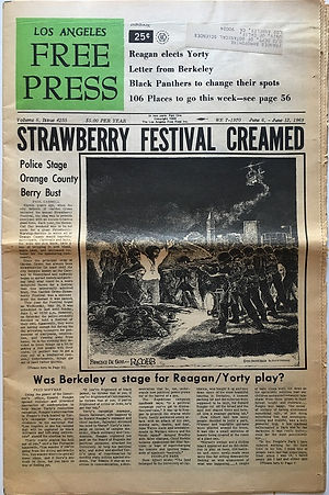 jimi hendrix newspaper 1969/los angeles free press june 6 1969   june 6 1969 usa