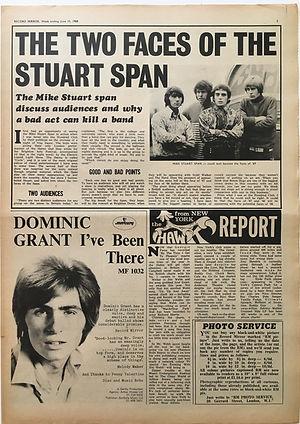 jimi hendrix newspaper/june 15 1968 record mirror