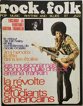 jimi hendrix magazine/rock & folk june/july 1968