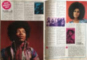 jimi hendrix magazines 1970 / stafette  july 1970