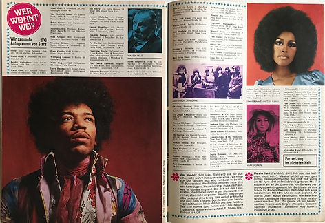 jimi hendrix magazines 1970 / stafette  july 1970