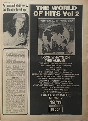 jimihendrix newspaper 1969/record mirror august 23 1969/an unusual mastress & the hendrix break-up!