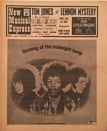 jimi hendrix memorabilia/newspapers collector /new musical express 19/8/67