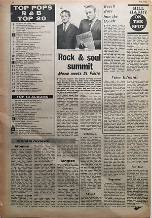 jimi hendrix newspaper 1968/top pops / top 20