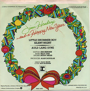 jimi hendrix singles vinyls/and a happy new year 1974