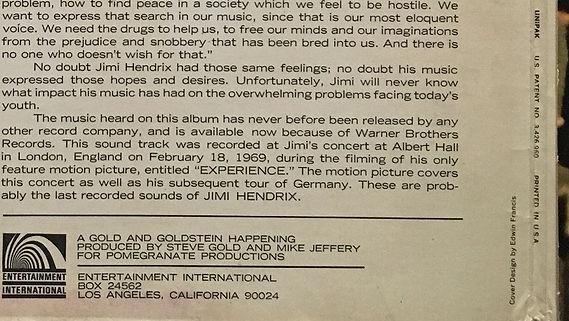 jimi hendrix vinyl album lps/experience 1971