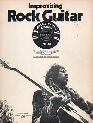 jimi hendrix book/improvising rock guitar 1973