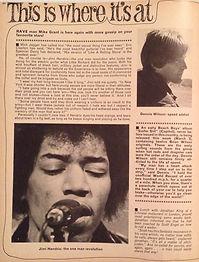 jimi hendrix  magazine / rave march 1967