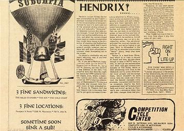 jimi hendrix newspapers 1970 / kaleidoscope june 4,1970