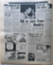 jimi hendrix newspaper 1969/new musical express april 12 1969/top singles reviewed../ crosstown traffic