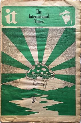IT international times newspaper jimi hendrix collector february 2/1968