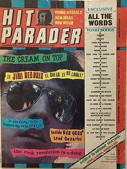 jimi hendrix magazine/hit parader july 1968